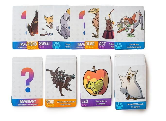 Dogs of the galaxies card game for kids, family parties and game nights