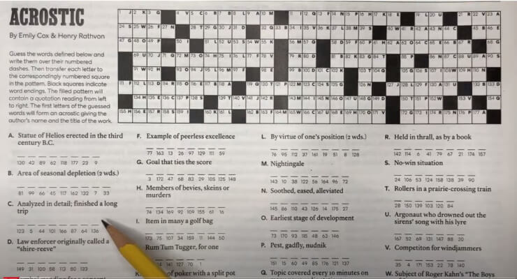 How to solve acrostic puzzles
