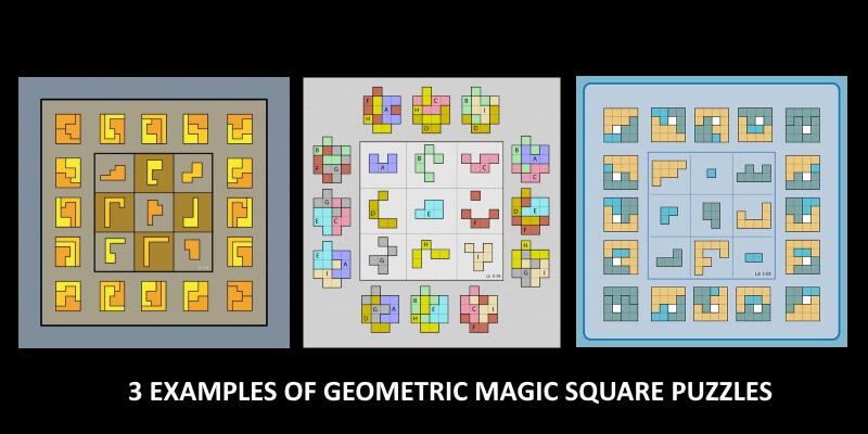 How to solve geometric magic square puzzles